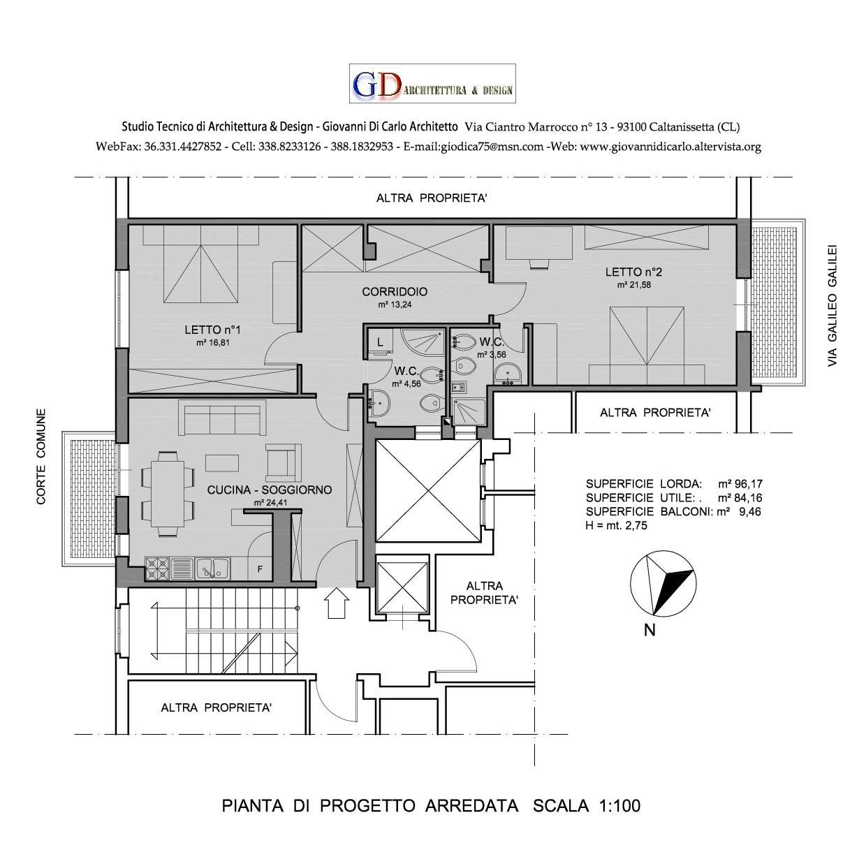 Esempio di ristrutturazione edilizia giovanni di carlo - Pianta di una cucina ...