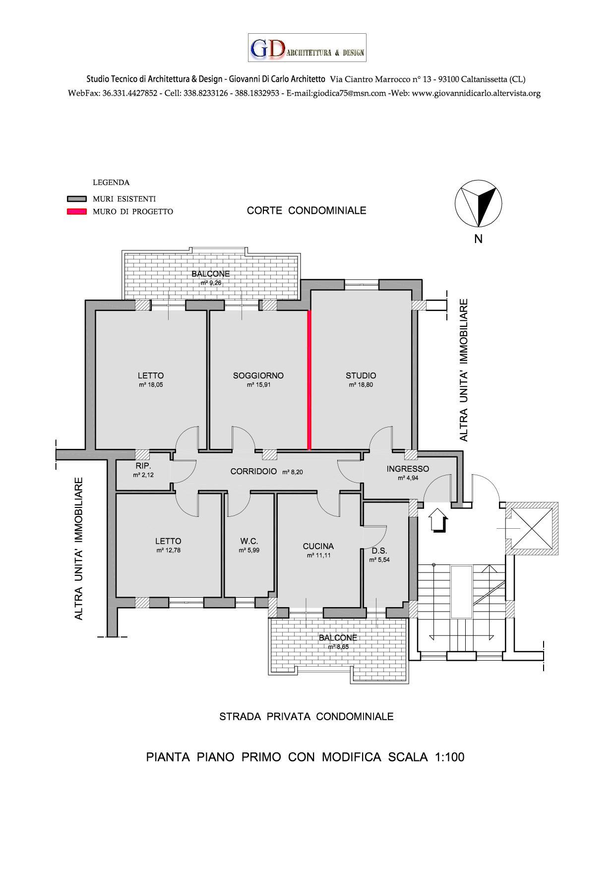 Ristrutturazione appartamento a licata ag giovanni di for Progettare le proprie planimetrie